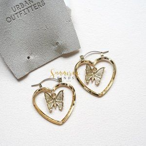 Urban Outfitters In Your Heart Hoop Earrings